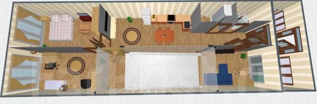 1-комнатная, улица Рейдовая 22. Эгершельд, частное лицо, 34кв.м. Дизайн-проект