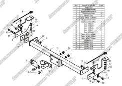 Фаркоп. Suzuki Jimny, JA33V, JB23W, JB33, JB43 Двигатели: G13BB, K6A, M13A