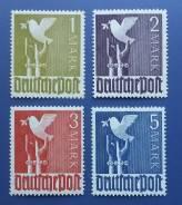 1947 Германия. Союзническая окуп. зона. 4 марки Чистые