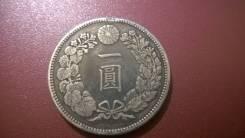 1 йена серебро , Япония. оригинал.