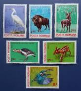 1980 Румыния. Фауна. 6 марок Чистые