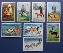 1982 Румыния. Собаки. 8 марок Чистые