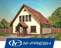 M-fresh Astra (В проекте дома высокий конёк на мансарде, второй свет! ). 100-200 кв. м., 2 этажа, 5 комнат, бетон