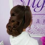 Вечерние и свадебные прически-локоны-макияж