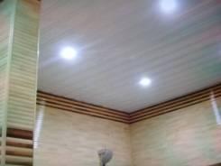 Установка подвесных потолков. Укладка ламината, кафеля