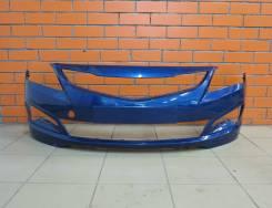 Бампер передний оригинальный Hyundai Solaris рестайл [2014-2016 г. в. ]