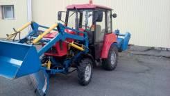 МТЗ 320. Трактор МТЗ-320 с навесным фронтальным погрузчиком, отвалом , щеткой., 32 л.с.