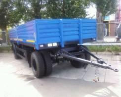 Сзап 8357. Прицеп бортовой СЗАП 8357 12 тонн 6 метров евро кузов 2-оси 2-скатный, 12 000кг.