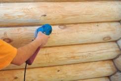 Шлифовка бань, деревянных домов.