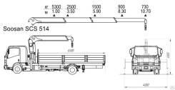 Soosan SCS514. КМУ Isuzu FSR90SL-PCUS + КМУ Std, борт алюминий, 4x2