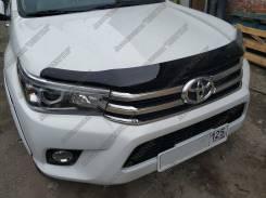 Дефлектор капота. Toyota Hilux Toyota Hilux Pick Up, GUN125, GUN125L, GUN126L Двигатели: 2GDFTV, 1GDFTV
