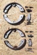 Колодки тормозные барабанные. Volkswagen Touareg, 7L6, 7LA Audi Q7, 4LB Двигатели: AXQ, AYH, AZZ, BAA, BAC, BAN, BAR, BHK, BHL, BJN, BKJ, BKL, BKS, BK...