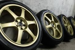 """Только из Японии! =Легкие=Yokohama AVS Model6=+крутые спорт шины. 7.0x17"""" 5x100.00 ET48"""