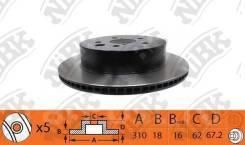 JDMStore | Задний тормозной диск NIBK (Япония) Lexus IS250, GS300