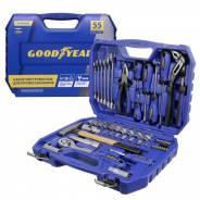 Набор инструментов Goodyear 55 предметов в пластиковом кейсе 1/2, 1/4 GY002055