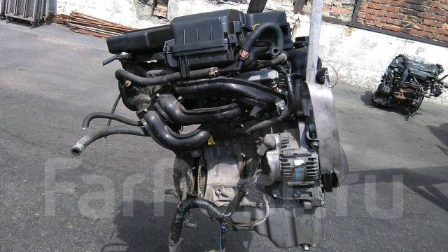 Двигатель NISSAN PINO, HC24S, K6A, YB3601, 0740039647