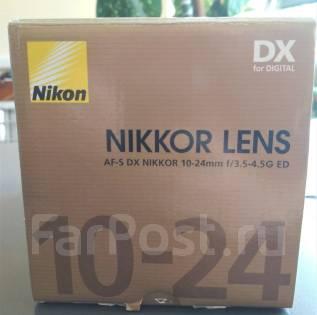 Объектив Nikon DX AF-S Nikkor 10-24mm 1:3.5-4.5G ED SWM. Для Nikon, диаметр фильтра 77 мм