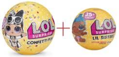 Куклы LOL Confetti POP +Lol Lil Sisters