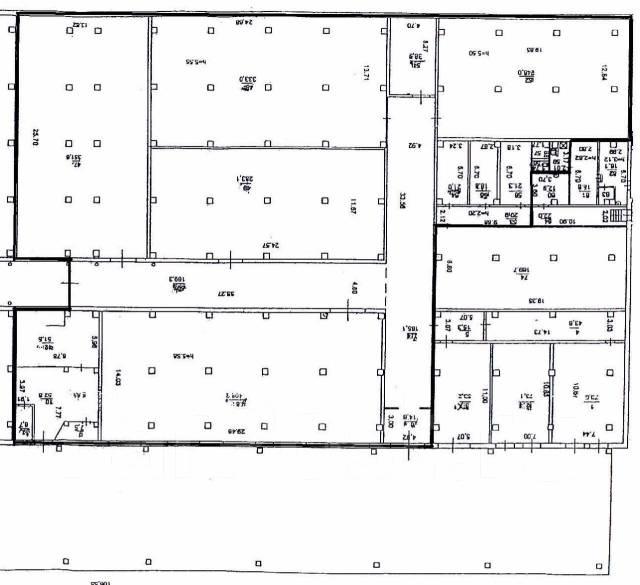 Сдается в аренду капитальный склад до 1200 кв. м. на Второй речке. 1 200кв.м., улица Енисейская 32, р-н Вторая речка. План помещения