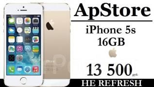 Apple iPhone 5s. Новый, 16 Гб, Золотой, 3G, 4G LTE