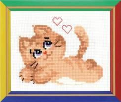 Набор для вышивания Котик, пакет