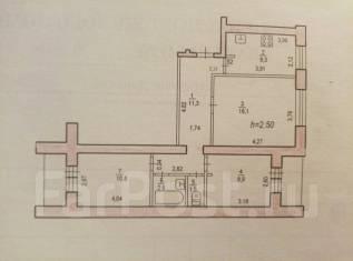 3-комнатная, переулок Донской 3. Центральный, частное лицо, 65кв.м.