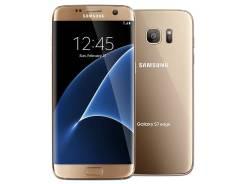 Samsung Galaxy S7 Edge. Б/у, 32 Гб, Золотой, Dual-SIM
