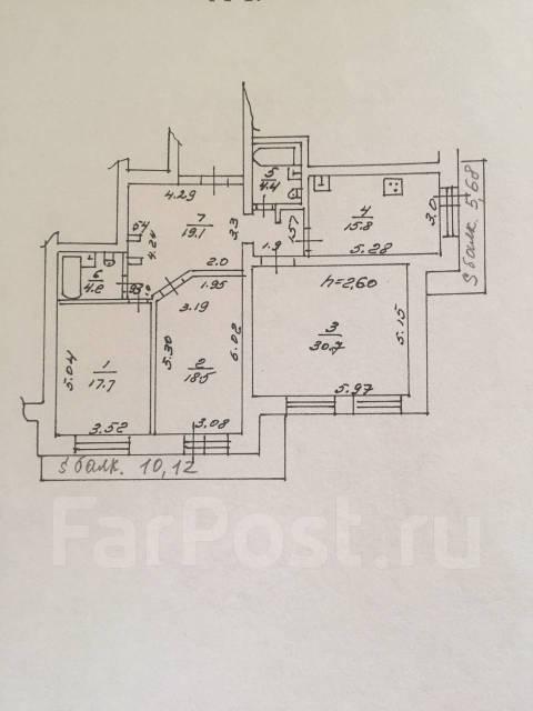 3-комнатная, улица Дикопольцева 8. Центральный, частное лицо, 128кв.м.