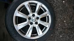 "Продаю литые диски Toyota Crown и новая летняя резина Bridgestone. 8.0x18"" 5x114.30 ET45 ЦО 60,1мм."