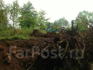 Планировка участка, спил деревьев, выкорчевка, дренаж