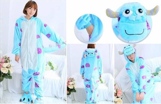 Яркая пижама - кигуруми «Салли» Корпорация монстров! Бесплатная ... ea9c732f83767