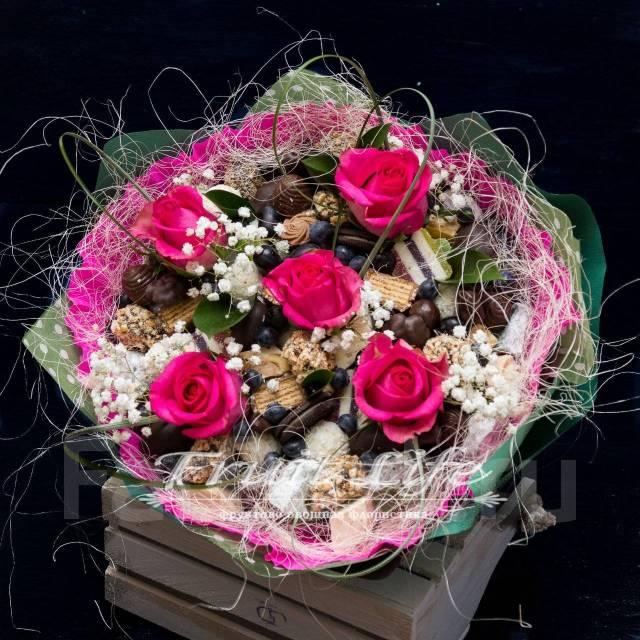 Розы большой креативные букеты для мужчин в иркутске букеты васильки