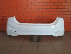 Бампер задний Hyundai Solaris 2 (цвет белый) [2017-н. в. ]