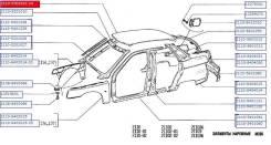 Обшивка потолка. Лада 2110, 2110 Лада 2111, 2111 Двигатели: X20XEV, BAZ2110, BAZ2111, BAZ21114, BAZ21120, BAZ21124, BAZ415