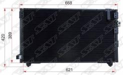 Радиатор кондиционера. Toyota Ipsum, SXM10, SXM10G, SXM15, SXM15G Toyota Picnic, SXM10, SXM10L Двигатель 3SFE