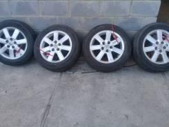 """Продам летние японские колеса 205/65-16 Dunlop на литых дисках Toyota. 6.5x16"""" 5x114.30 ET50 ЦО 60,0мм."""