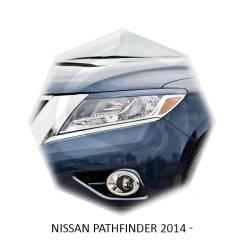 Накладка на фару. Nissan Pathfinder, R50, R51, R51M, R52, R52R Двигатели: QR25DER, V9X, VK56DE, VQ35DE, VQ40DE, YD25, YD25DDTI