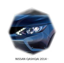 Накладка на фару. Nissan Qashqai, J10, J11 Двигатели: H5FT, HR12DDT, HR16DE, K9K, M9R, MR16DDT, MR20DD, MR20DE, R9M
