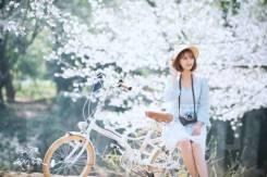 Японский городской велосипед со складной рамой