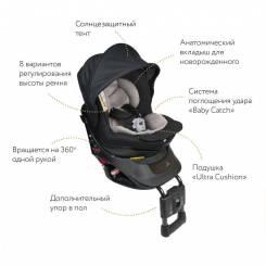 Кресло детское автомобильное Kurutto NT2 Premium, группа 0+/1, черное ALB860E