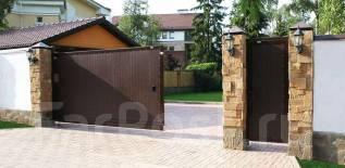 Откатные ворота. Подъемно-секционные ворота. Сдвижные ворота.