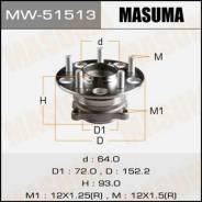 Ступичный узел Masuma rear Accord 09- (with ABS) MW-51513. Honda Accord Honda Accord Tourer, CW2 Двигатели: K24Z3, N22B1, N22B2, R20A3