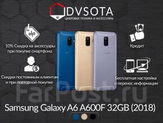 Samsung Galaxy A6. Новый, 32 Гб, Золотой, Синий, Черный, 4G LTE