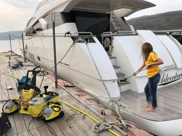Мойка катеров, яхт, химчистка салона, мебели.
