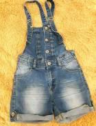 Джинсовый комбинезон (шорты). Рост: 134-140 см