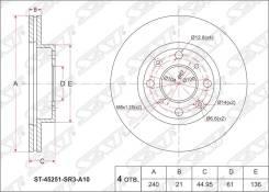 Диск тормозной HONDA, ДИСКИ ТОРМОЗНЫЕ SAT ST-45251-SR3-A10