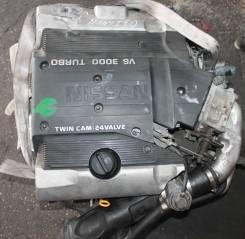 Двигатель в сборе. Nissan: Cedric, Silvia, Langley, Cima, Leopard, Figaro, Gloria, Gazelle, Liberta Villa Двигатель VQ30DET
