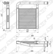 Радиатор отопителя салона LADA GRANTA 10-/KALINA 13-/DATSUN on-DO 14-/mi-DO 15- SAT ST-LD01-395-0