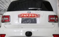 Накладка на дверь багажника. Nissan Patrol, Y62. Под заказ