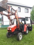 МТЗ 320.4. Трактор Беларус 320.4 с погрузчиком и коммунальной щеткой, 36 л.с.